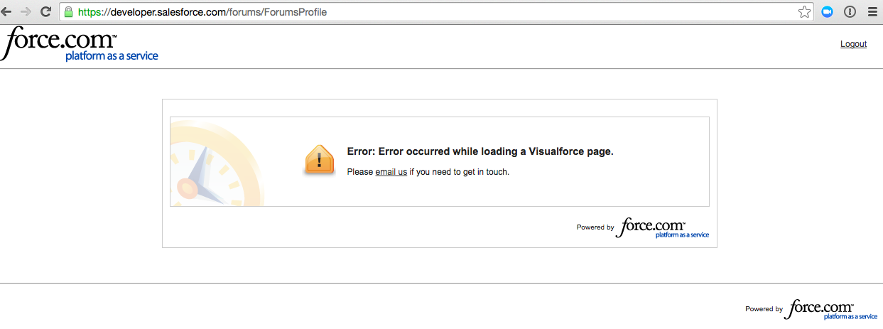 Visualforce error