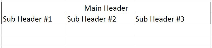 Example Table and Header