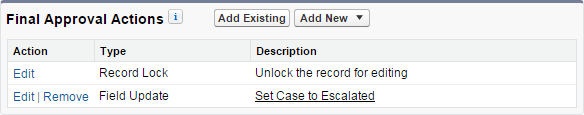 Set Case Escalated must be prefixed by Record Unlock.